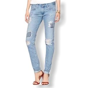 AG The Nikki Relaxed Skinny Patched Selvedge Jean